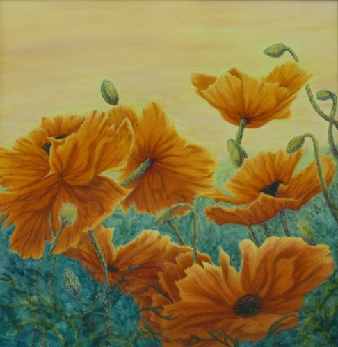 Poppibilities Orange Poppies Painting
