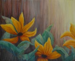 Saffron Symphony Painting by Lisa Gibson