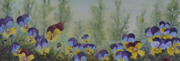Violas Painting by Lisa Gibson