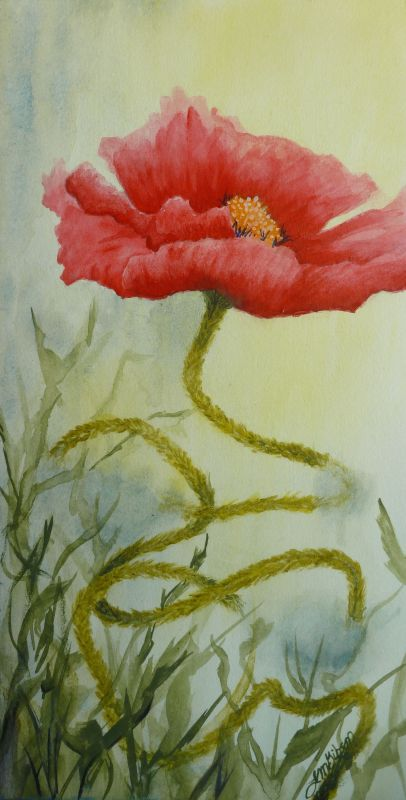 Journey Poppy Painting