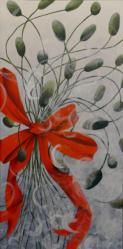 All Dressed Up & Ready To Go poppy painting by Lisa Gibson