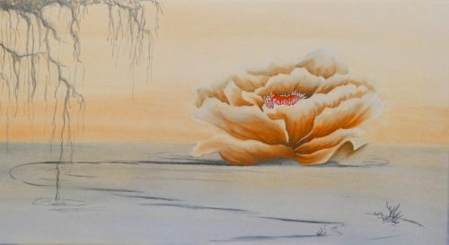 Any Way the Wind Blows poppy painting by Lisa Gibson