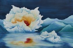 At Ease Poppy Painting by Lisa Gibson Thumbnail