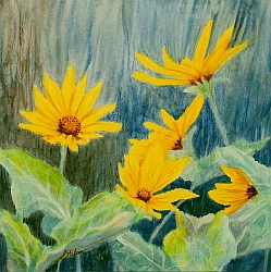 Balsam for My Root flower painting by Lisa Gibson