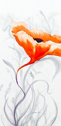 Blooming Again poppy painting thumbnail by Lisa Gibson