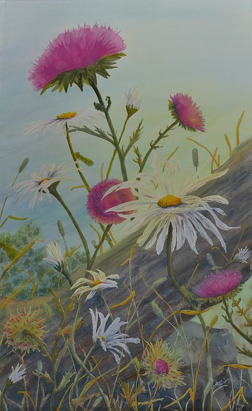 Bloommates Flower Painting by Lisa Gibson