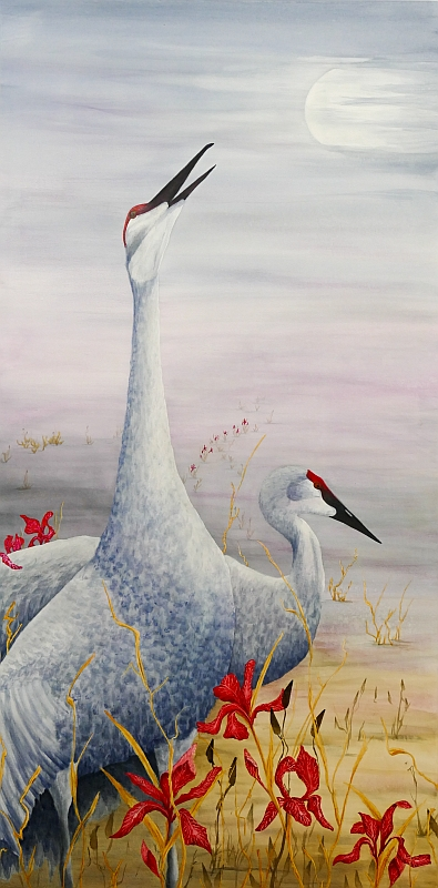 Calling My Name Sandhill Crane Painting by Lisa Gibson