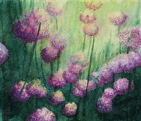 Chillin With Chives painting by Lisa Gibson