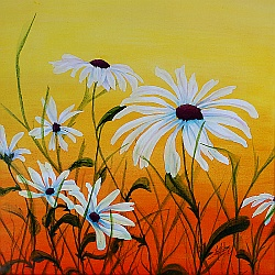 Daisy Days painting by Lisa Gibson