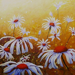 Dreaming In Daisy flower painting by Lisa Gibson