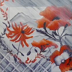 Flowers In My Window flower painting by Lisa Gibson