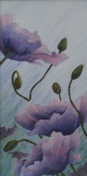 Growing Rains Poppy Painting