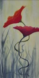 In Love poppy painting by Lisa Gibson