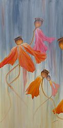 Last Dance Poppy Painting by Lisa Gibson