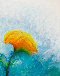 Lean Into the Breeze floral painting thumbnail by Lisa Gibson