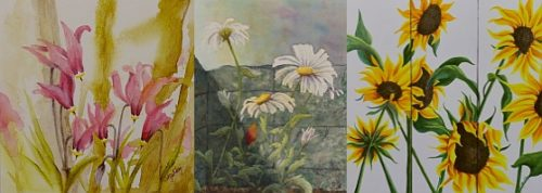 Lisa Gibson Flower Paintings