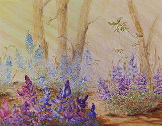 Lupine Love Flower Painting by Lisa Gibson