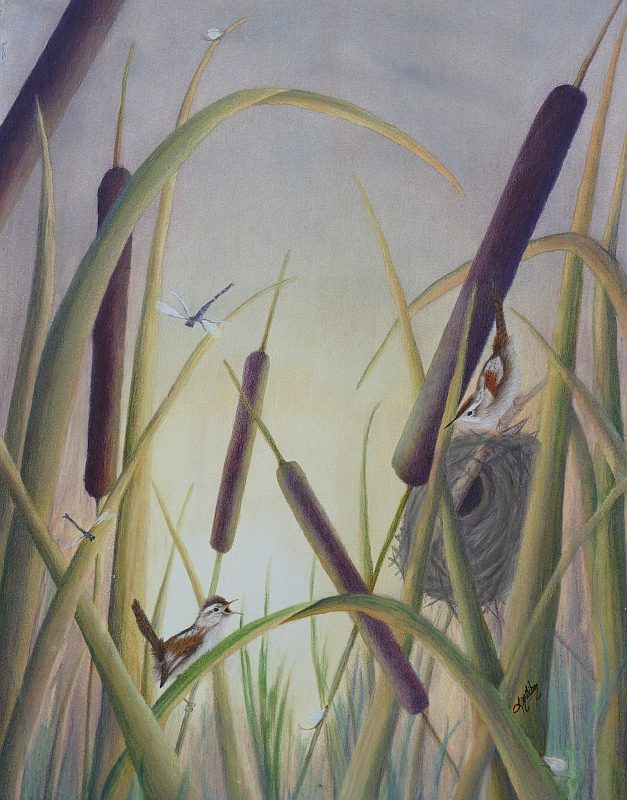 Marsh Magic Bird Painting by Lisa Gibson