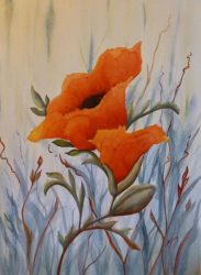 Open Up Poppy Painting By Lisa Gibson