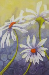 "6""x 4"" Daisy Mini Painting by Lisa Gibson"