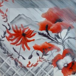 Flowers in My Window painting by Lisa Gibson
