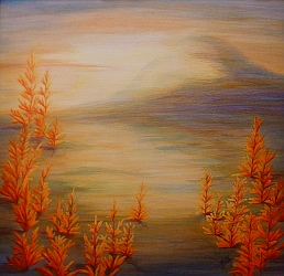 Prairie Sunrise Painting by Lisa Gibson