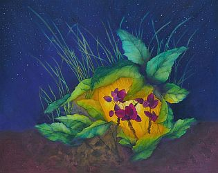 Safe & Sound Nature Painting by Lisa Gibson