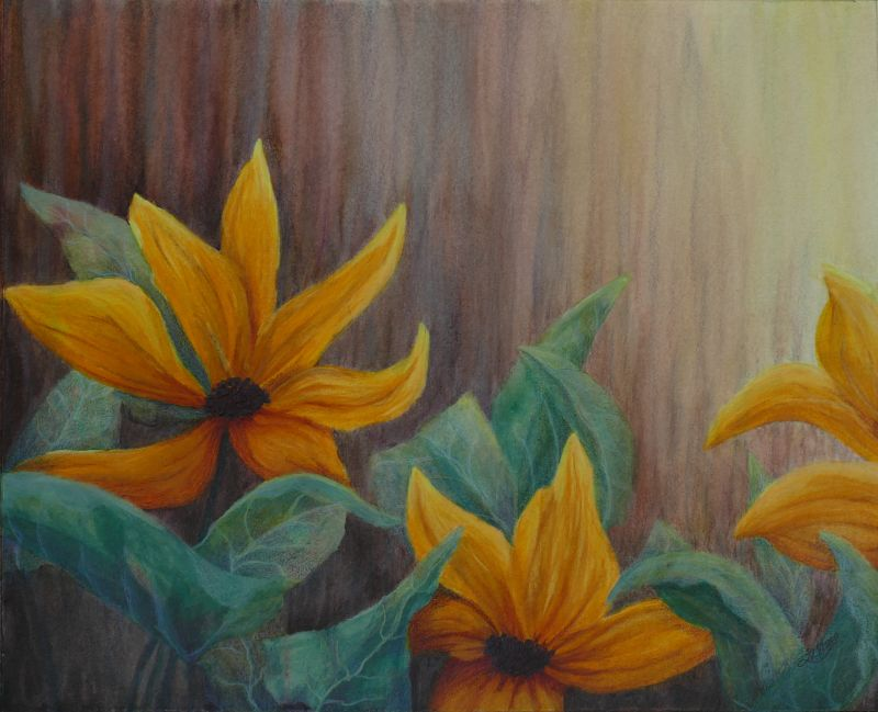 Saffron Symphony Painting
