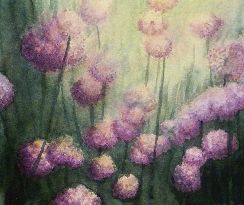 Chillin' With the Chives Painting by Lisa Gibson