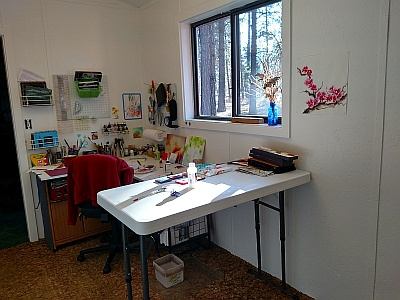 Lisa Gibson Painting Studio Workspace