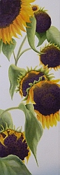 Sun Tower Flower Painting by Lisa Gibson Thumbnail