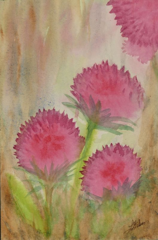 Thistle Watercolor Painting