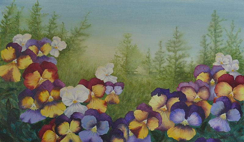 Viola Painting by Lisa Gibson